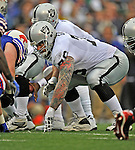 21 September 2008: Oakland Raiders' offensive guard Robert Gallery in action against the Buffalo Bills at Ralph Wilson Stadium in Orchard Park, NY. The Bills rallied for 10 unanswered points in the 4th quarter to defeat the Raiders 24-23...Mandatory Photo Credit: Ed Wolfstein Photo