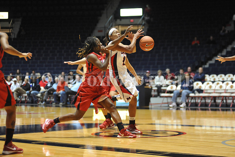 "Ole Miss vs. Lamar in women's college basketball at the C.M. ""Tad"" Smith Coliseum in Oxford, Miss. on Monday, November 19, 2012.  Lamar won 85-71."