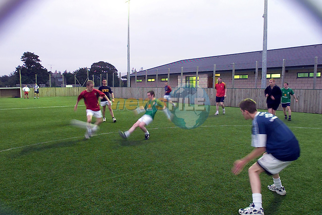 % a side soccer being played in the St Feckins Gaa all weather pitched in termonfeckin Co Louth..Picture Fran Caffrey Newsfile...This Picture is sent to you by:..Newsfile Ltd.The View, Millmount Abbey, Drogheda, Co Louth, Ireland..Tel: +353419871240.Fax: +353419871260.GSM: +353862500958.ISDN: +353419871010.email: pictures@newsfile.ie.www.newsfile.ie