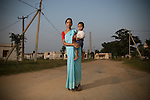 Sabita Chhachhan (23) and her son at the resettlement colony at Jharsuguda, Orrisa.