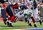 30 September 2007: New York Jets running back Leon Washington dives across the goalline for a touchdown in the fourth quarter against the Buffalo Bills at Ralph Wilson Stadium in Orchard Park, NY. The Bills defeated the Jets 17-14 handing the Jets their third loss of the season...Mandatory Photo Credit: Ed Wolfstein Photo