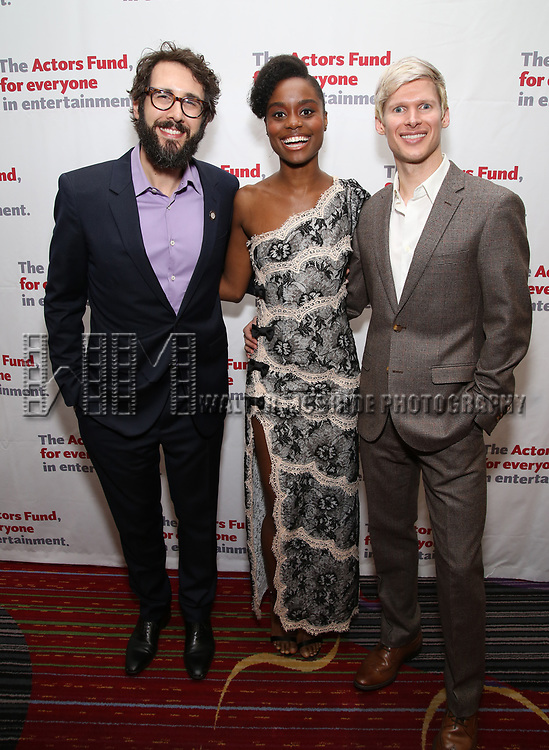 Josh Groban, Denee Benton and Lucas Steele attend The Actors Fund Annual Gala at the Marriott Marquis on 5/8//2017 in New York City.