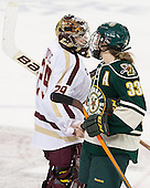 Corinne Boyles (BC - 29), Klara Myren (UVM - 33) - The Boston College Eagles defeated the visiting University of Vermont Catamounts 2-0 on Saturday, January 18, 2014, at Kelley Rink in Conte Forum in Chestnut Hill, Massachusetts.