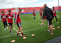 06 October 2012: DC United players in an MLS game between DC United and Toronto FC at BMO Field in Toronto, Ontario..DC United won 1-0..