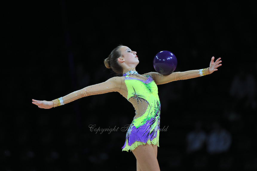 September 20, 2011; Montpellier, France;  POLINA KOZITSKIY of USA performs with ball at 2011 World Championships.