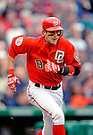 13 April 2008: Washington Nationals' infielder Aaron Boone in action against the Atlanta Braves at Nationals Park, in Washington, DC. The Nationals ended their 9-game losing streak by defeating the Braves 5-4 in the last game of their 3-game series...Mandatory Photo Credit: Ed Wolfstein Photo