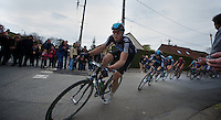 Paris-Roubaix 2012 ..Mathew Hayman trying to close the gap with Boonen for team-mate Flesha