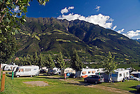 Vinschgau, Val Venosta, South Tyrol, June 2007.  WaldCamping in Naturns.  South Tyrol used to be part of Austria until it became part of Italy after WWI. Photo by Frits Meyst/Adenture4ever.com