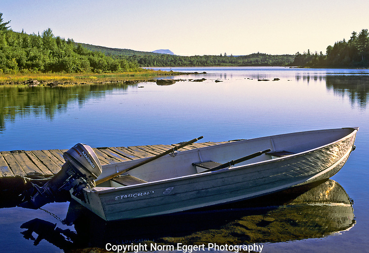 Boat ready for fishing at second roach pond norm eggert for Small fishing boats for ponds