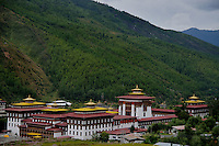 Thimpu Dzong or Tashichoe Dzong is a Buddhist monastery and fortress on the northern edge of the city of Thimpu in Bhutan, on the western bank of the Wang Chu.. Arindam Mukherjee..