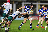 Charlie Ewels of Bath Rugby takes on the Northampton Saints defence. Aviva Premiership match, between Bath Rugby and Northampton Saints on February 10, 2017 at the Recreation Ground in Bath, England. Photo by: Patrick Khachfe / Onside Images