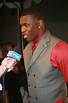 "San Francisco 49ers' 1st Round Draft Aldon Smith Is Interviewed at the NFL Players Association Rookie Debut""One Team Celebration"" Held at Cipriani Wall Street, NY 4/30/2011"