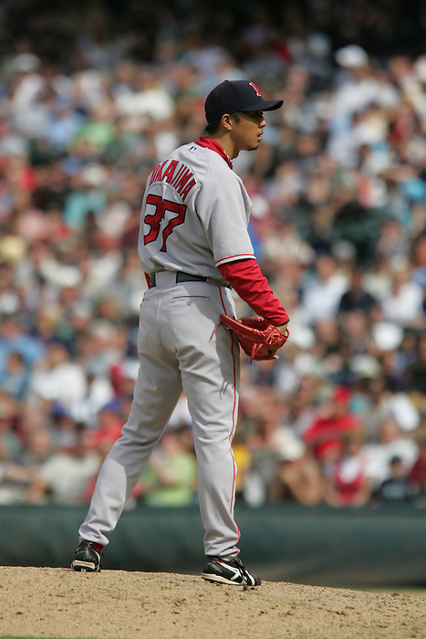 27 June 2007:Red Sox Pitcher Hideki Okajima Seattle Mariners vs Boston Red Sox at Safeco Park in Seattle, Washington.