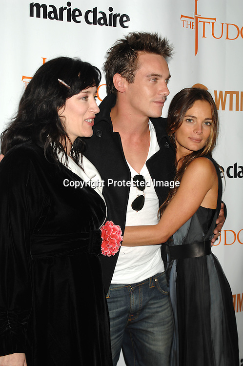 """Maria Doyle Kennedy, Jonathan Rhys Meyers and Gabrielle Anwar..at The Showtime and Marie Claire New York Premiere of """"The Tudors"""" at The Hearst Tower. The Show premieres on Showtime on April 1, 2007...Robin Platzer, Twin Images"""