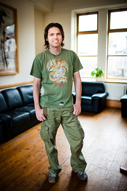 Dale Vince, self styled Zero Carbonista, and founder of the world's first group of green electricity companies under the name Ecotricity.<br /> <br /> Stroud, Gloucestershire, England