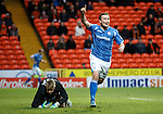Dundee United v St Johnstone....21.11.15  SPFL,  Tannadice, Dundee<br /> Chris Kane celebrates his goal<br /> Picture by Graeme Hart.<br /> Copyright Perthshire Picture Agency<br /> Tel: 01738 623350  Mobile: 07990 594431