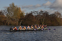 004 ULO University of London. Wallingford Head of the River. Sunday 27 November 2011. 4250 metres upstream on the Thames from Moulsford railway bridge to Oxford Universitiy's Fleming Boathouse in Wallingford. Event run by Wallingford Rowing Club..