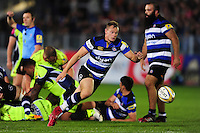 Chris Cook of Bath Rugby chases after the ball. Aviva Premiership match, between Bath Rugby and Sale Sharks on October 7, 2016 at the Recreation Ground in Bath, England. Photo by: Patrick Khachfe / Onside Images