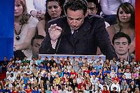 France , Paris , Palais omnisports de Paris-Bercy . Meeting de Nicolas sarkozy , candidat de l'UMP a la presidentielle 2007 . Dimanche 29 avril 2007