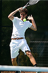 09 May 2015: Juan Cruz Estevarena (ARG). The University of North Carolina Tar Heels hosted the Mississippi State University Bulldogs at Cone-Kenfield Tennis Center in Chapel Hill, North Carolina in a 2015 NCAA Division I Men's Tennis Tournament Second Round match. UNC won the match 4-1.