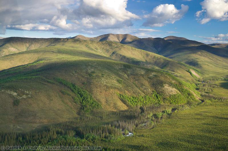 Aerial views of the Yukon Charley Rivers National Preserve, Interior, Alaska