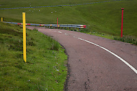 Markers by the road to Lowther Hill Radar Station from Wanlockhead, Southern Uplands, Scotland