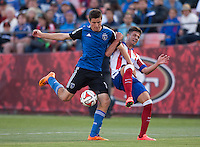San Francisco, California - Sunday July 27, 2014: Atletico Madrid defeated the San Jose Earthquakes 4-3 in penalty kick during Copa Euroamericans match at Candlestick Park.
