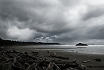 A storm approaches Long Beach on the West Coast of Vancouver Island.