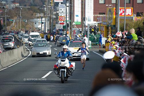 Ryo Yoshikawa (Kanagawa-Univ),.JANUARY 2, 2012 - Ekiden :.Day one of the 88th Hakone Ekiden, The 3rd section (21.5km) from Totsuka to Hiratsuka, in Kanagawa, Japan. (Photo by SONG Seak-In/AFLO)