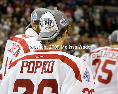 Luke Popko (BU - 26) - The Boston University Terriers celebrated their NCAA D1 National Title win in the 2009 Frozen Four Final on Saturday, April 11, 2009, at the Verizon Center in Washington, DC.