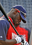 20 June 2008: Washington Nationals' outfielder Elijah Dukes takes batting practice prior to the first game of their series against the Texas Rangers at Nationals Park in Washington, DC. The Nationals rallied in the eighth to tie, and then win 4-3 in the 14th inning of their inter-league matchup...Mandatory Photo Credit: Ed Wolfstein Photo