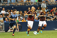 Sporting Park, Kansas City, Kansas, July 31 2013:<br /> Michael Bradley (4) midfield AS Roma in action.<br /> MLS All-Stars were defeated 3-1 by AS Roma at Sporting Park, Kansas City, KS in the 2013 AT &amp; T All-Star game.