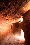 The interior of an Ancestral Puebloan ruin, Cedar Mesa, Utah.