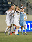 Dec 15, 2013; The Notre Dame men's soccer team celebrate after defeating Maryland 2-1 in the College Cup championship in Chester, Pa. Photo by Barbara Johnston/University Photographer