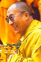 The Dalai Lama, political & spiritual leader of the Tibetan people, at the Kalachakra.