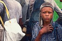 Child labor at sugarcane cutting, Bahia State, Northeastern Brazil.