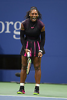 FLUSHING NY- SEPTEMBER 07: Serena Williams Vs Simona Halep on Arthur Ashe Stadium at the USTA Billie Jean King National Tennis Center on September 7, 2016 in Flushing Queens. Credit: mpi04/MediaPunch