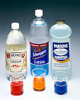 pH INDICATOR: VINEGAR, CLUB SODA &amp; AMMONIA<br />