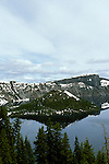 OR: Oregon; Crater Lake National Park, scenic view from the South side of Crater Lake         .Photo Copyright Lee Foster, lee@fostertravel.com, www.fostertravel.com, (510) 549-2202.Image orcrat218