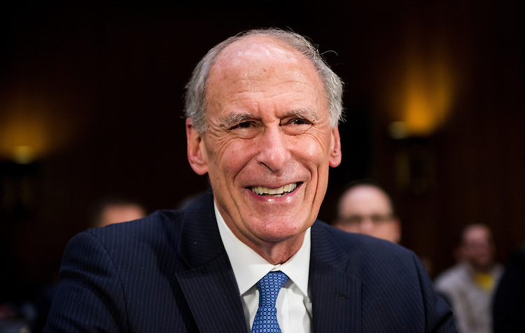 UNITED STATES - FEBRUARY 28: Former Sen. Dan Coats, R-Ind., nominee to be Director of National Intelligence, prepares to testify during his confirmation hearing in the Senate Select Committee on Intelligence on Tuesday, Feb. 28, 2017. (Photo By Bill Clark/CQ Roll Call)