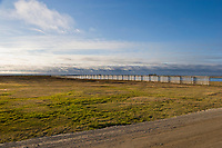 Snow fence, Utqiagvik (Barrow), Alaska.