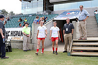 Cary, North Carolina  - Sunday May 21, 2017: Alyssa Mautz, Taylor Comeau prior to a regular season National Women's Soccer League (NWSL) match between the North Carolina Courage and the Chicago Red Stars at Sahlen's Stadium at WakeMed Soccer Park. Chicago won the game 3-1.