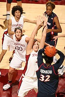28 December 2006: Stanford Cardinal Jayne Appel during Stanford's 86-58 win against the Arizona Wildcats at Maples Pavilion in Stanford, CA. Also pictured are Brooke Smith and Cissy Pierce.