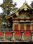 Kamijinko Azekura-zukuri Log Cabin style Storehouse Imaginary Elephants Tanyu School Mitsuda-e Nikko Toshogu Shrine Nikko Japan