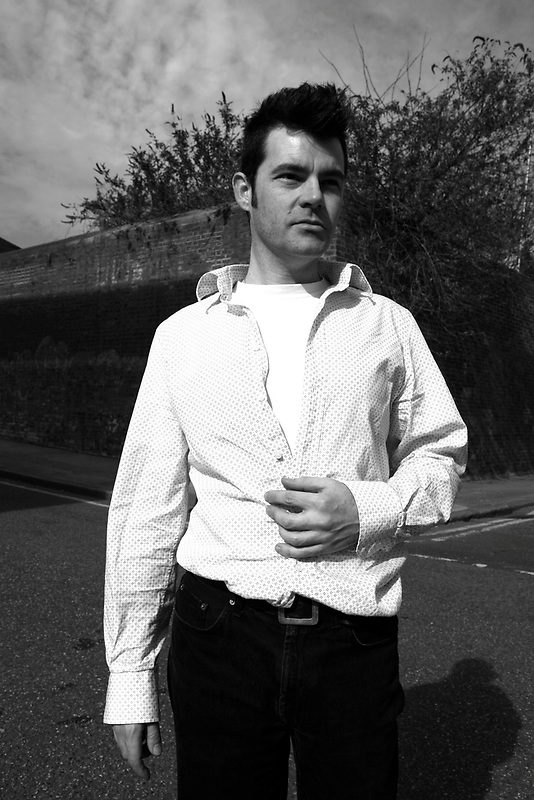 Gejo posing as Morrissey, Wapping, London, March 2007