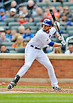 11 April 2012: New York Mets first baseman Ike Davis in action against the Washington Nationals at Citi Field in Flushing, New York. The Nationals shut out the Mets 4-0 to take the rubber match of their 3-game series. Mandatory Credit: Ed Wolfstein Photo
