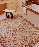 Custom Townsend rug in Botticino and Rosa Verona