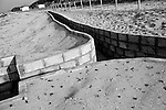Photo shows trenches in the beach used by Korean military to lookout for North Korean invaders at  the East Sea Research Institute in Gyeongbuk, South Korea on on 21 June 2010..Photographer: Robert Gilhooly