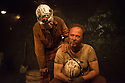 London, UK. 08.09.2014. LAND OF OUR FATHERS, by Chris Urch, directed by Theatre503's Paul Robinson, opens at the Trafalgar Studios. Picture shows: Robert East (Hovis) and Patrick Brennan (Chopper). Photograph © Jane Hobson