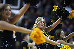 Iowa cheer squad performs during a time out against Gonzaga during the 2015 NCAA Division I Men's Basketball Championship's March 22, 2015 at the Key Arena in Seattle, Washington.   Gonzaga beat Iowa 87-67 to advance to the Sweet 16.    ©2015. Jim Bryant Photo. ALL RIGHTS RESERVED.